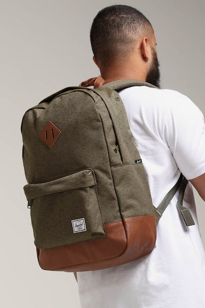HERSCHEL BAG CO Heritage Backpack Dark Green/Tan