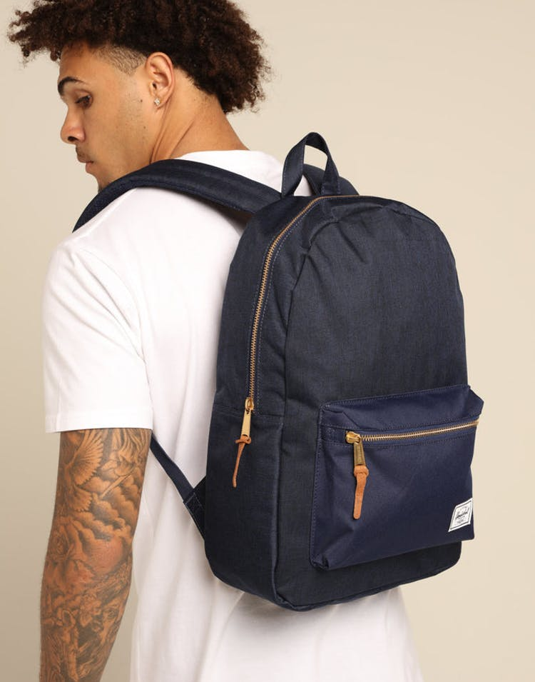 60a0d84b053 Herschel Bag Co Settlement Backpack Medieval Blue Coppper – Culture Kings