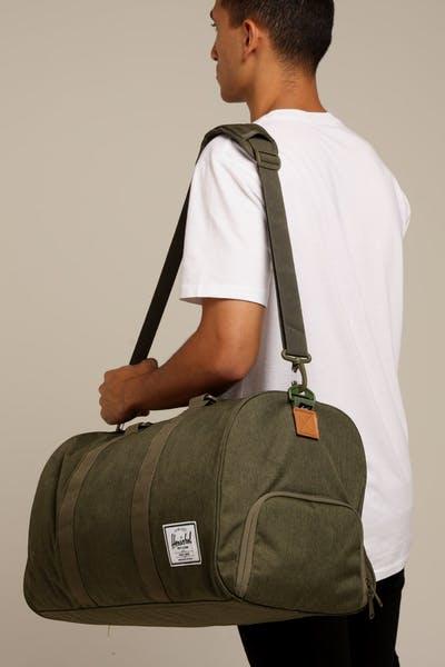 d21774f5569 Herschel Bag Co Novel Duffle Olive Night Crosshatch