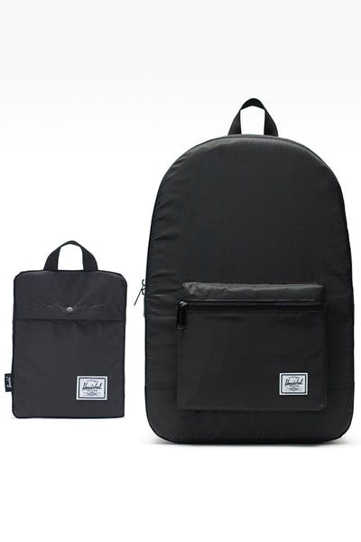 HERSCHEL BAG CO. PACKABLE DAYPACK BACKPACK BLACK