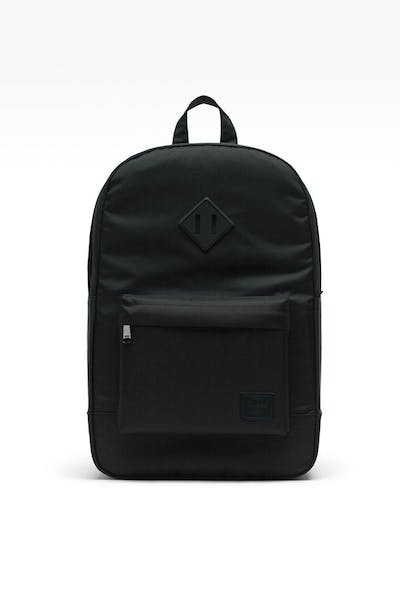 HERSCHEL BAG CO. HERITAGE MID-VOLUME LIGHT BACKPACK BLACK