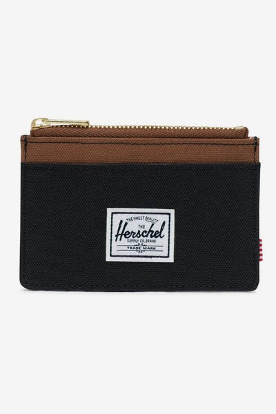 HERSCHEL BAG CO OSCAR RFID WALLET Black/Saddle Brown