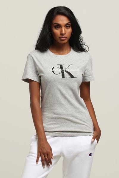 e16c4e0cf4cd6 Calvin Klein Women s Core Monogram Logo Slim Grey Heather Grey