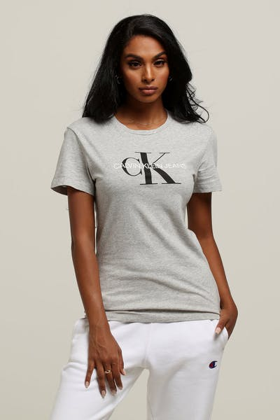 37e8c7d2b78da Calvin Klein Women s Core Monogram Logo Slim Grey Heather Grey