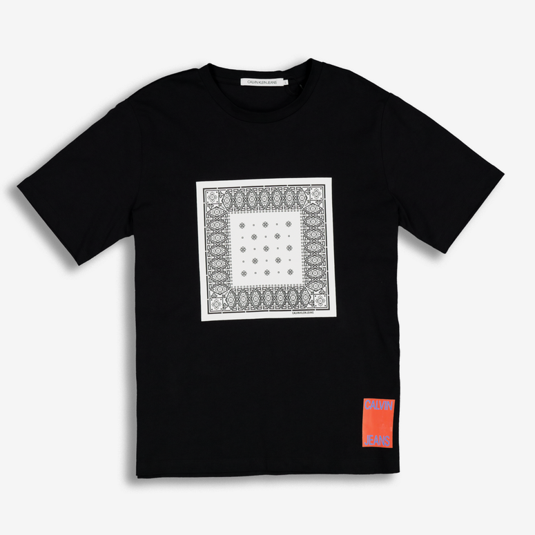 Calvin Klein Bandana Graphic Regular Tee Black