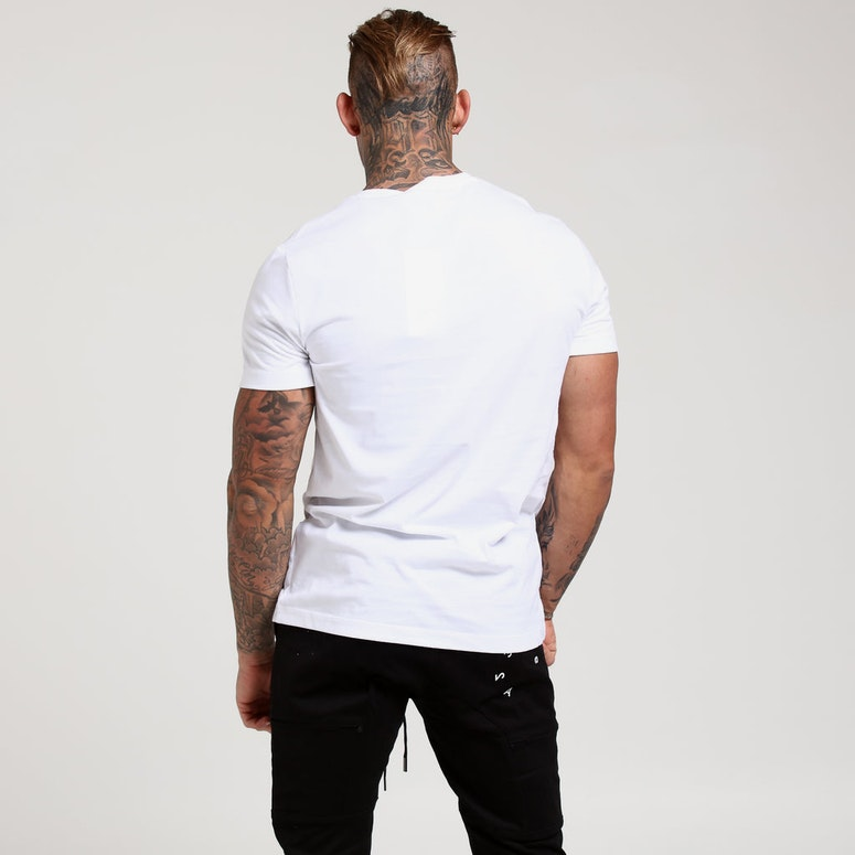 Calvin Jeans Box Logo Slim Tee White/Black