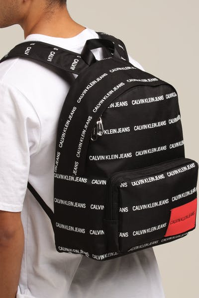 27a3a9fa25c44 Calvin Klein Sport Essential CP Backpack 45 Allover Print Black