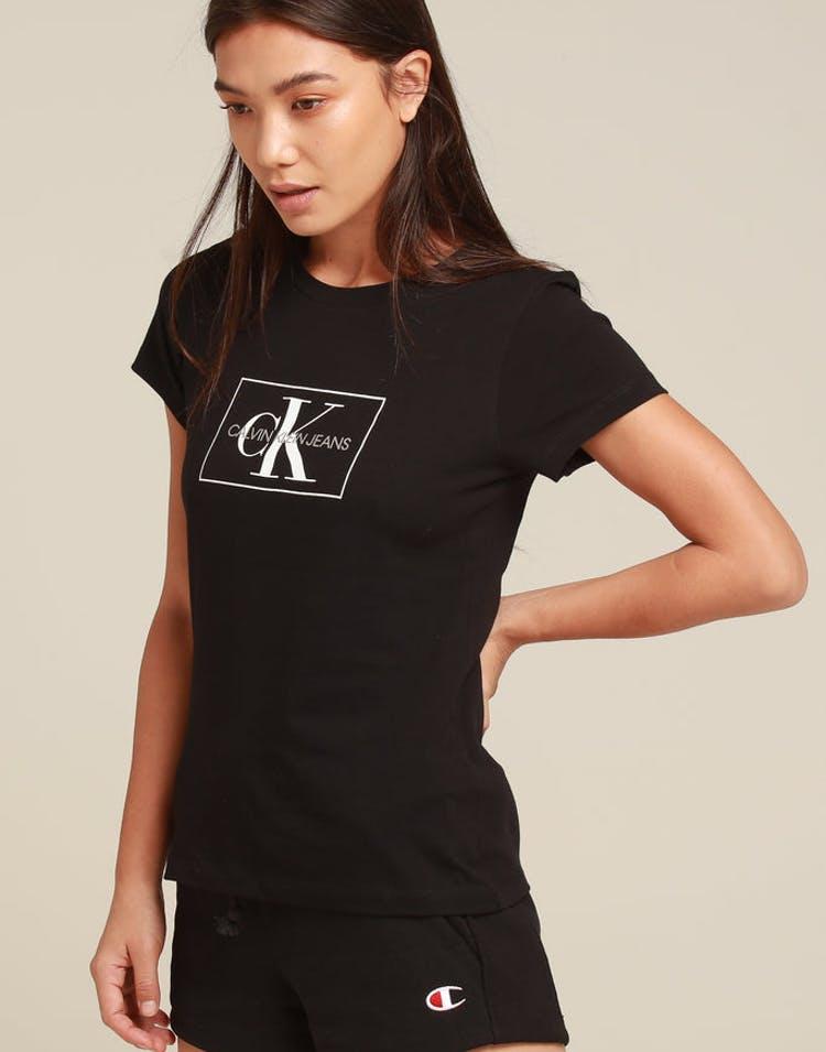 f6a97c3750 Calvin Klein Women s Outline Monogram Slim Fit Black White – Anexas
