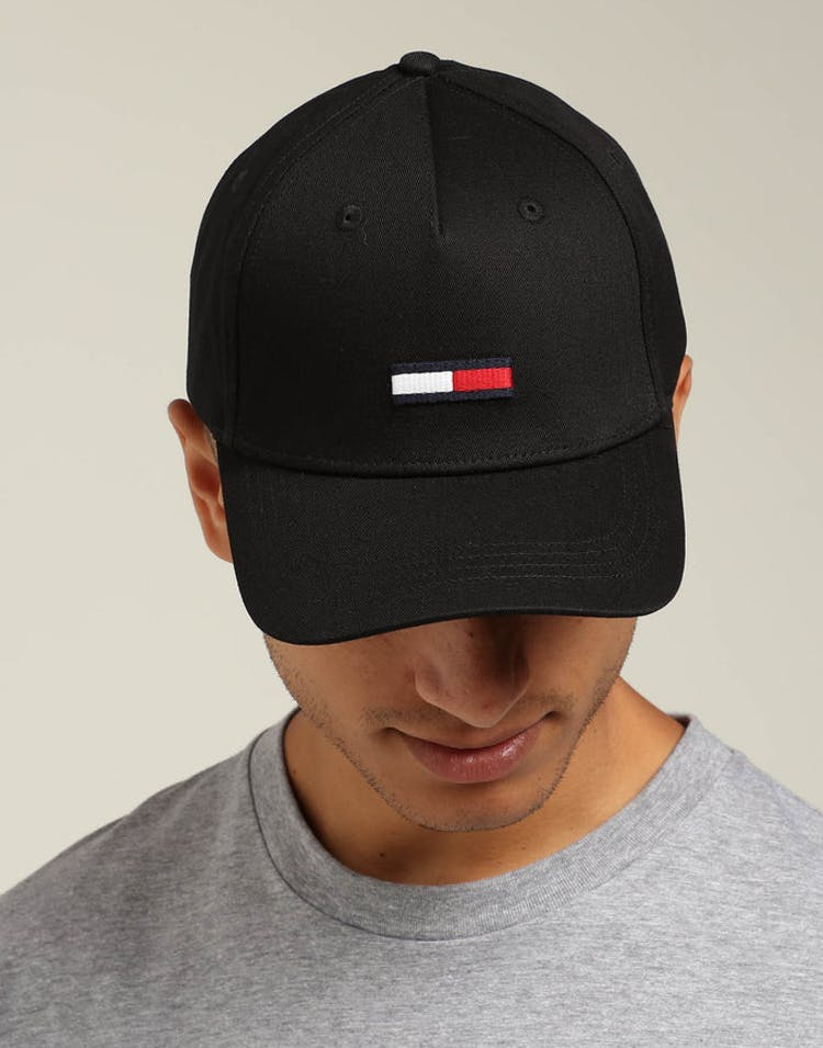 badcd9a5 Tommy Jeans TJU Flag Cap M Black – Culture Kings