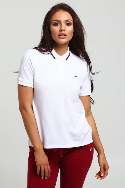 bc7d283ebf68e Tommy Jeans Women s Tommy Classics Polo White