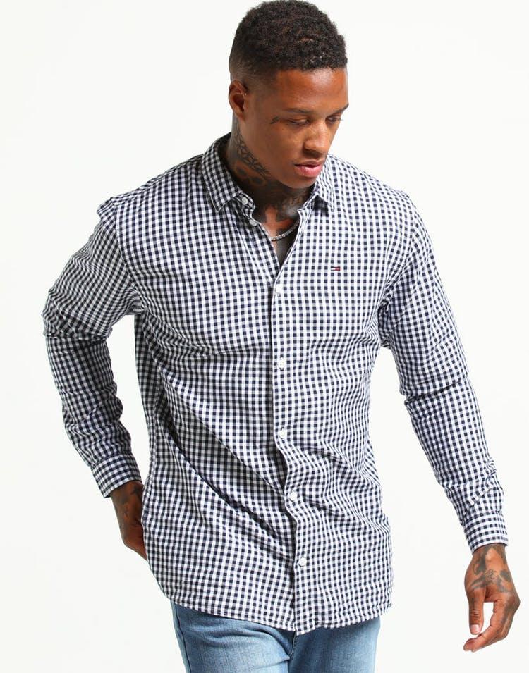 42de685d3 Tommy Jeans TJM Essential Gingham Shirt Black Iris – Culture Kings