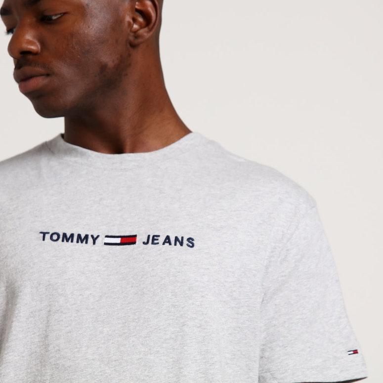 Tommy Jeans TMJ Small Text Tee Light Grey