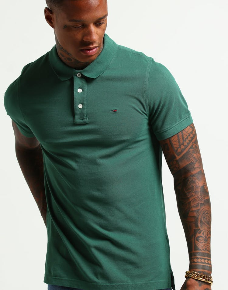 11ebf59a Tommy Jeans TJM Essential Polo S/S Dark Green – Culture Kings