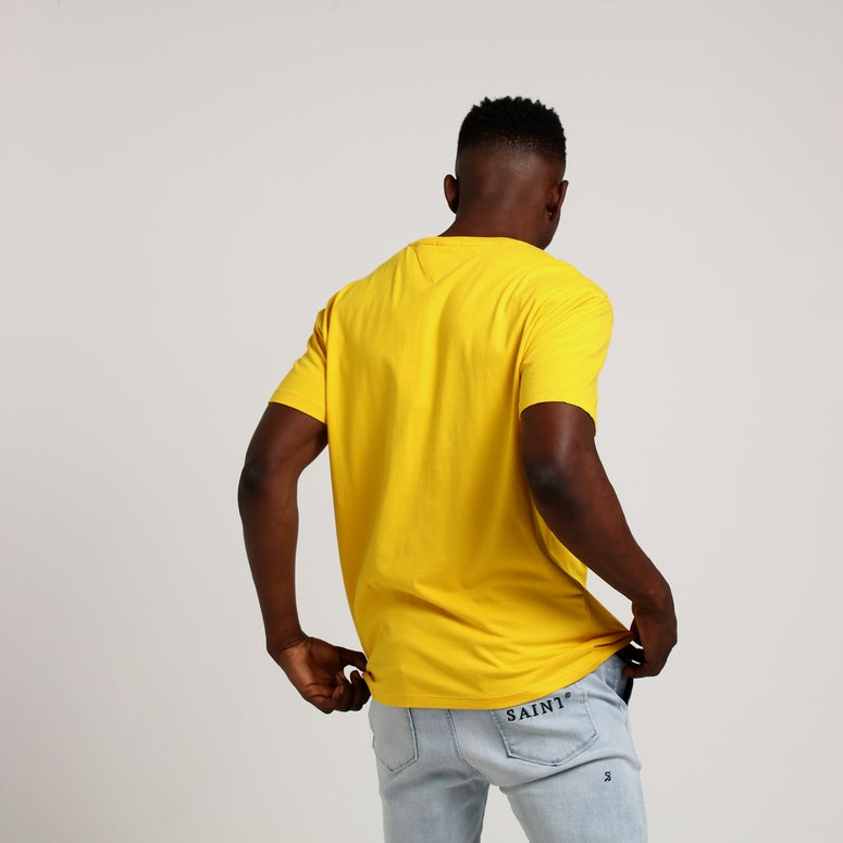 Tommy Jeans TMJ Small Text Tee Yellow