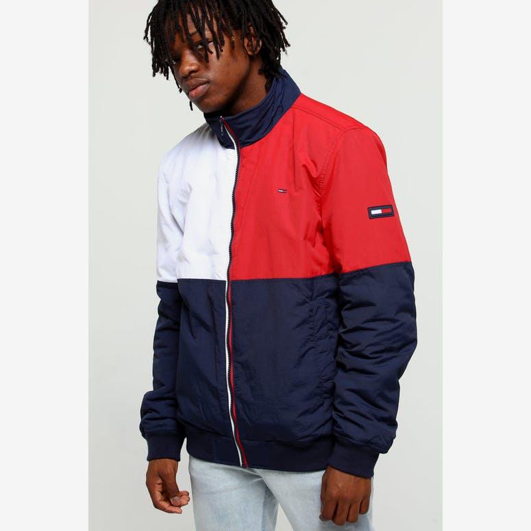 c78bdcaba Tommy Jeans TJM Essential Flag Jacket Black Iris Multi – Culture Kings