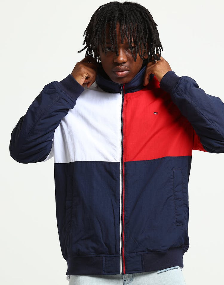 2e7c532b0b9 Tommy Jeans TJM Essential Flag Jacket Black Iris/Multi – Culture Kings