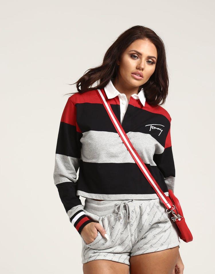 66d48da4 Tommy Jeans Women's TJW Crop L/S Polo Red/Multi-Coloured – Culture Kings