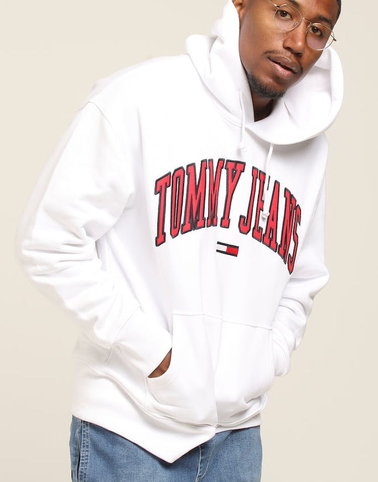 19fb8967a9c Tommy Jeans TJM Clean Collegiate Hoodie White – Culture Kings