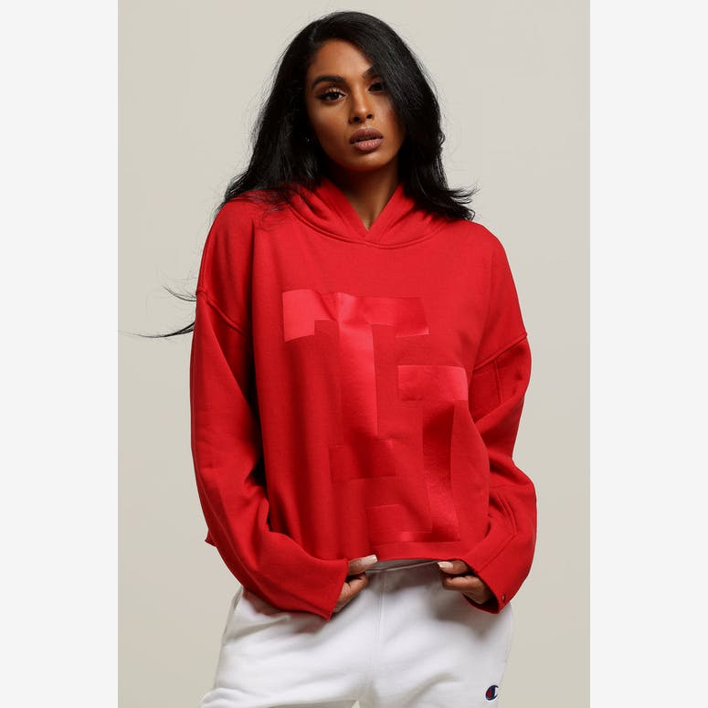 0edc490c3c8b29 Tommy Jeans Women s TJ Raw Hem Dem Detail Hoodie Red – Culture Kings