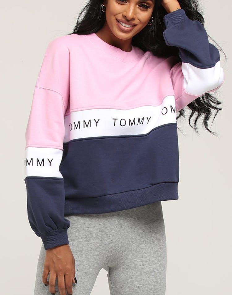 ac24066218d2e1 Tommy Jeans Women's TJW Colorblock Sweatshirt Black Iris/Multi – Culture  Kings