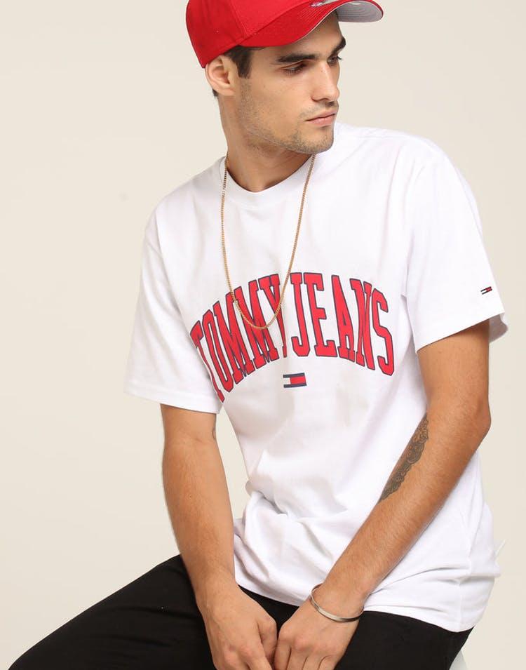d5b31b47 Tommy Jeans TJM Collegiate Logo Tee White – Culture Kings
