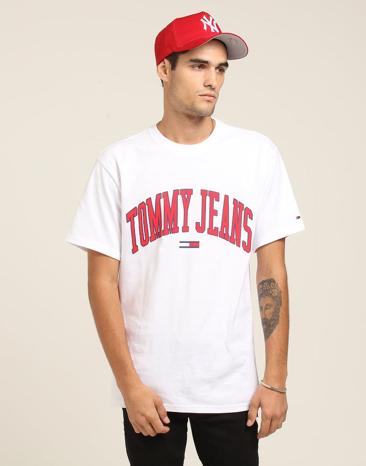 192e2baed Tommy Jeans TJM Collegiate Logo Tee White – Culture Kings