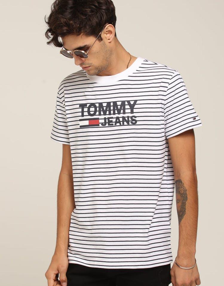 d48be1c5 Tommy Jeans TJM Signature Stripe Tee Black/White – Culture Kings