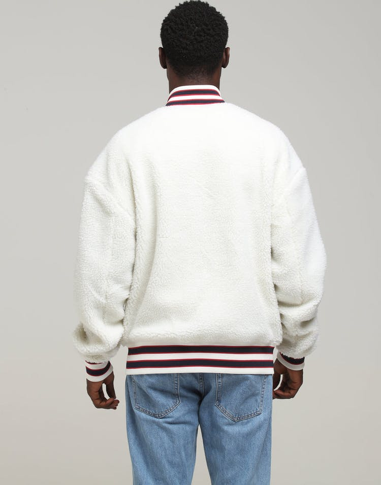 Tommy Jeans TJM Teddy Bomber Classic White
