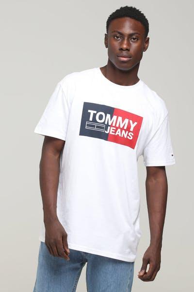 dd143edca6 Tommy Jeans TJM Ess Splt Box Tee Classic White