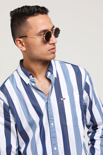 Tommy Jeans Tommy Classics Stripe Shirt White/Multi-Coloured