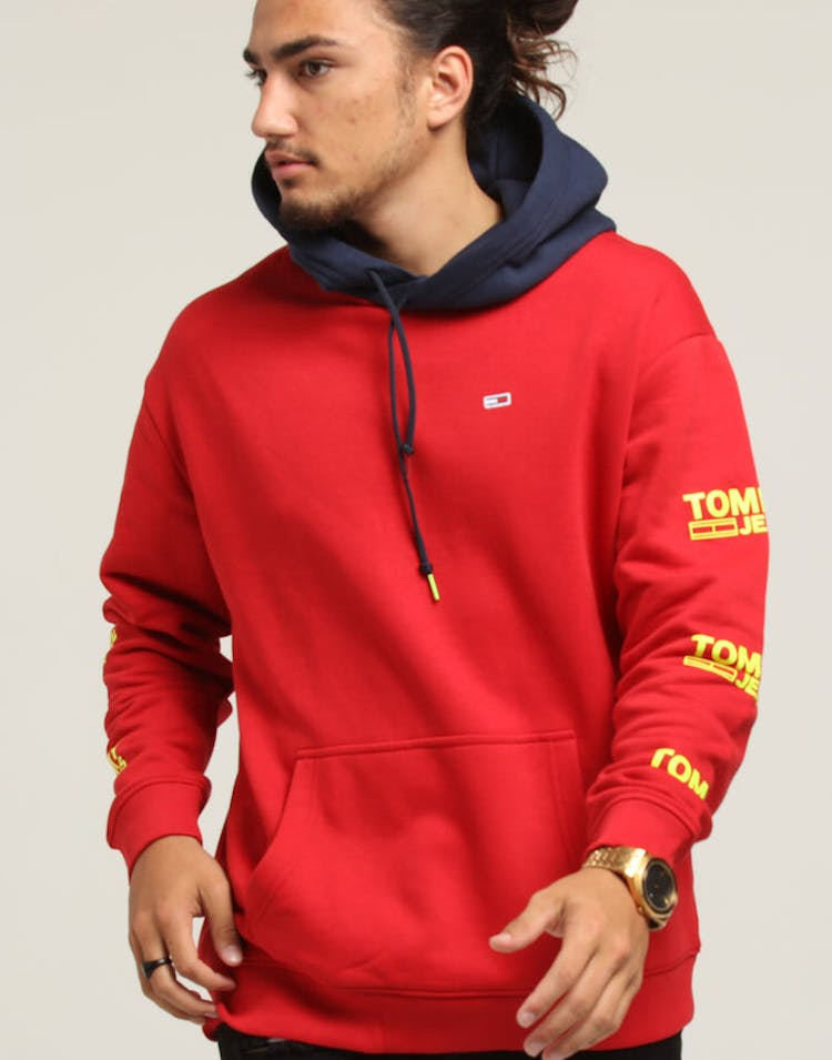 fe83a567 Tommy Jeans TJM Graphic Hoodie Red – Culture Kings
