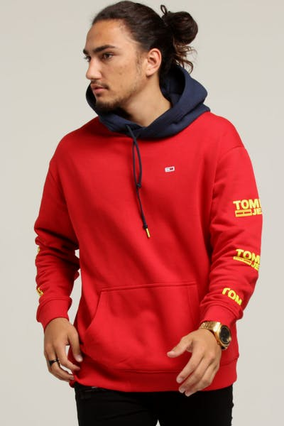Tommy Jeans TJM Graphic Hoodie Red