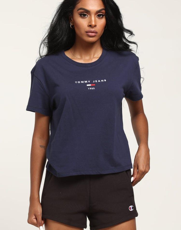 f77c087e Tommy Jeans Women's TJW Corp Logo Tee Black Iris – Culture Kings