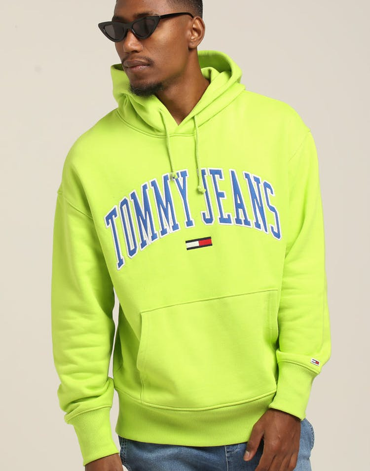 a20555af Tommy Jeans TJM Clean Collegiate Hoodie Lime – Culture Kings