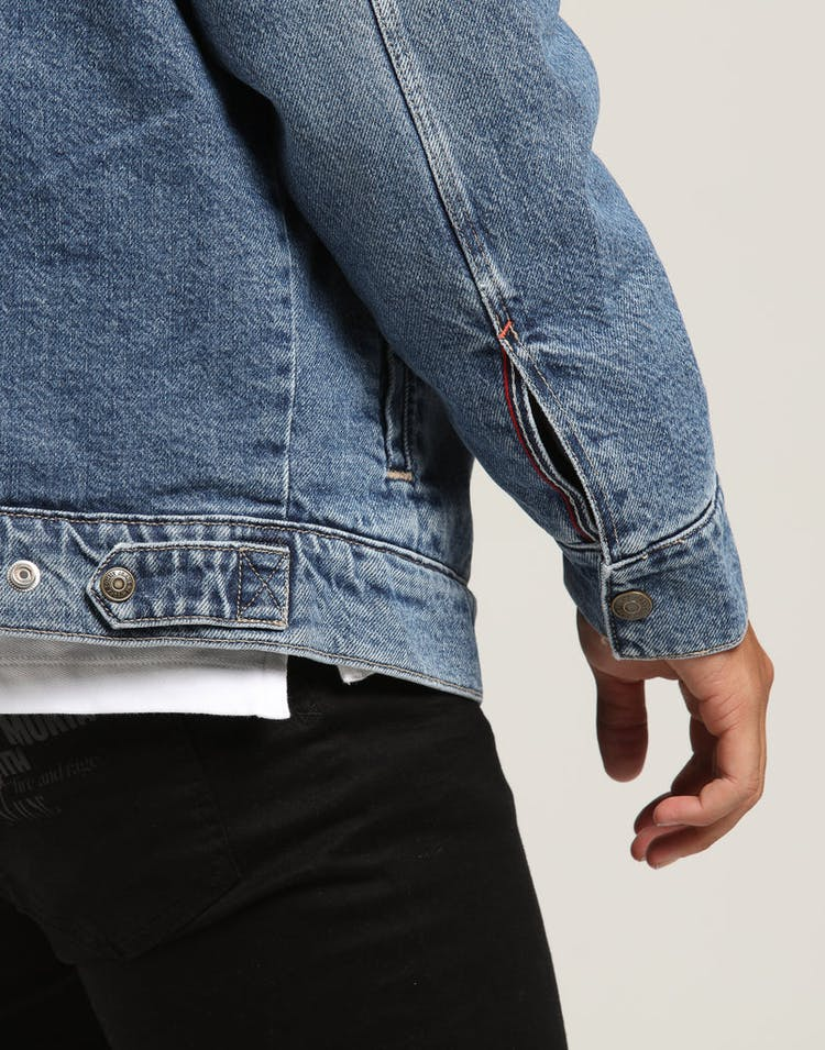 Tommy Jeans Oversize Sherpa Trucker Jacket Blue/Denim