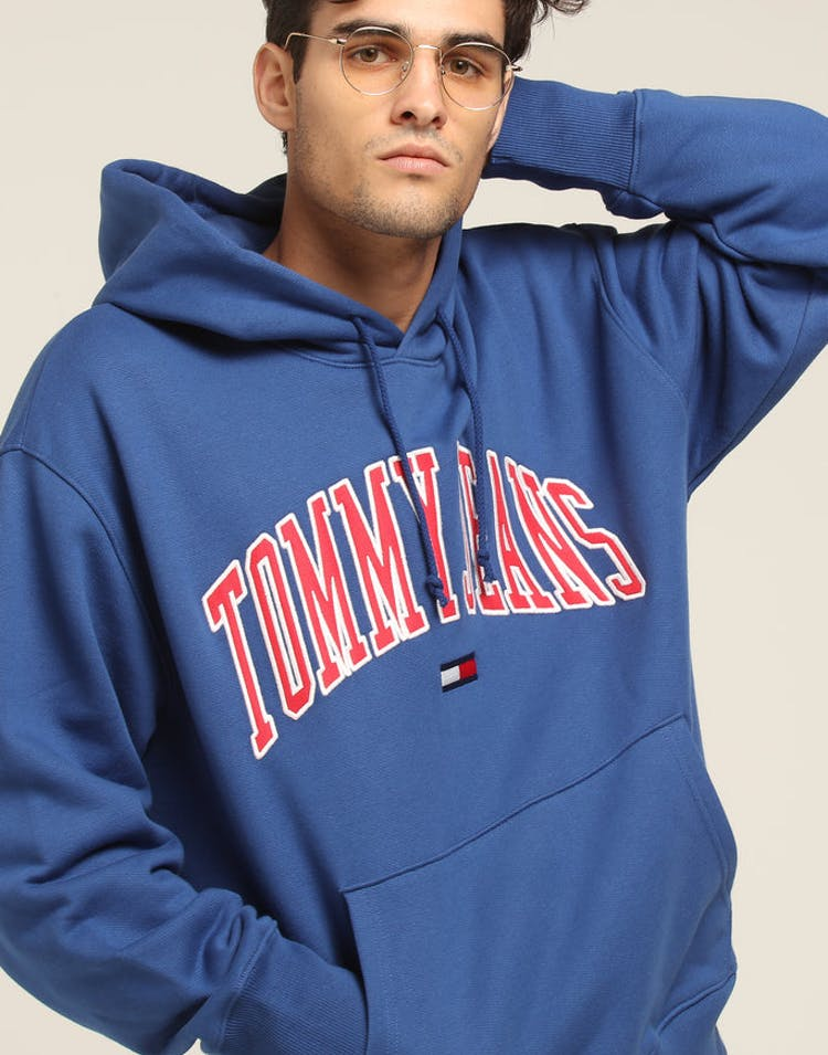 a4bfbd7a Tommy Jeans TJM Clean Collegiate Hoodie Blue – Culture Kings