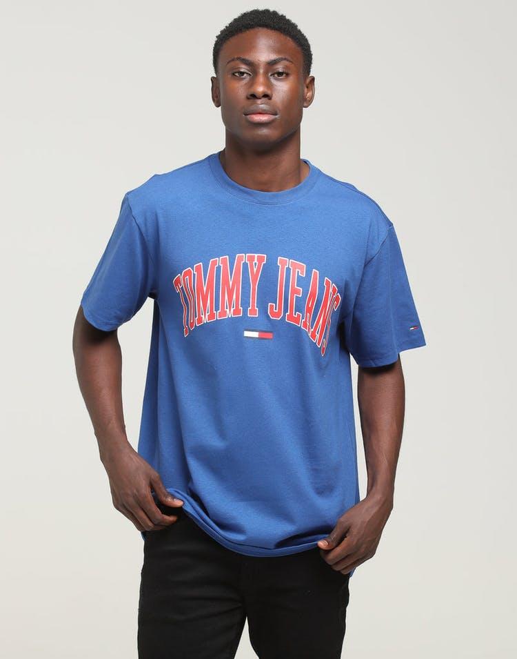 a2c0c277 Tommy Jeans TJM Collegiate Logo Tee Blue – Culture Kings