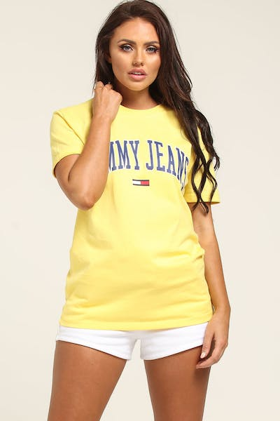 Tommy Jeans TJW Collegiate Logo Tee Gold