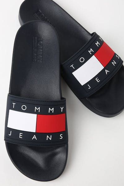 35c4405f0 Tommy Jeans Flag Pool Slide Navy