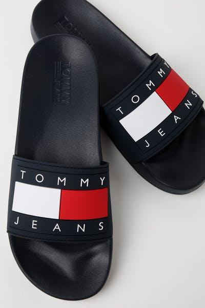 232144d3d13847 Tommy Jeans Flag Pool Slide Navy