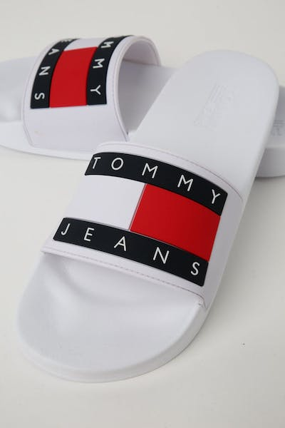 Tommy Jeans Flag Pool Slide White
