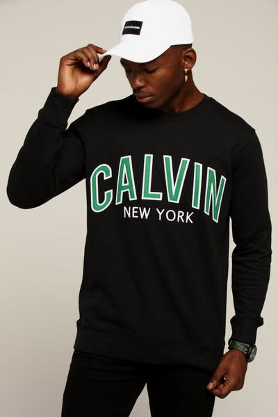 Calvin Klein Calvin Graphic Crew Neck Black