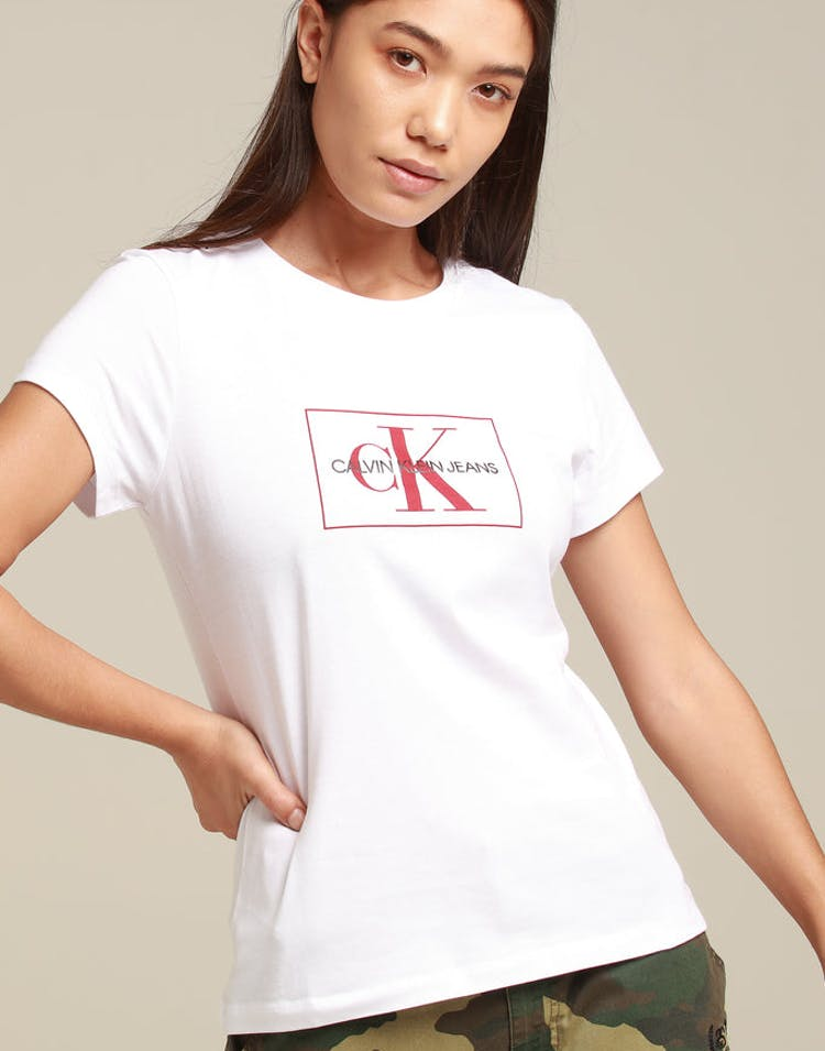 eb3734c56 Calvin Klein Women's Outline Monogram Slim Fit White/Red – Culture Kings