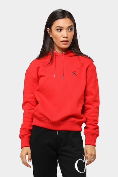 Calvin Klein CK Embroidery Hoodie Red