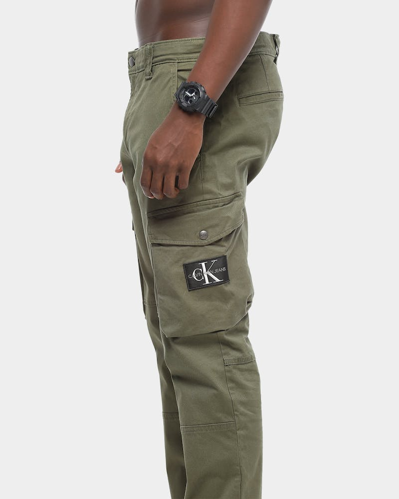 Calvin Klein Skinny Washed Cargo Pant Deep Green