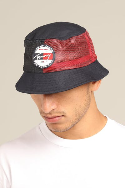 8e439713615 Tommy Jeans TJM Heritage Bucket Hat Navy Red