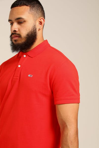 Tommy Jeans TJM Tommy Classics Solid Polo Scarlet