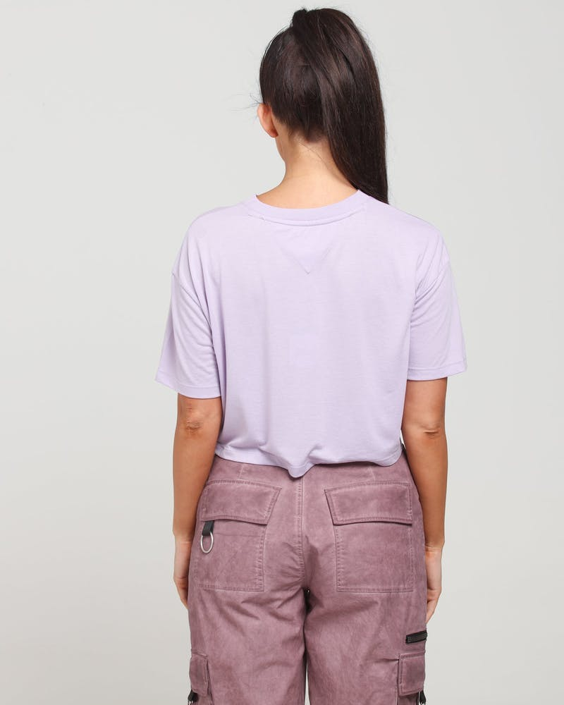 Tommy Jeans Women's TJW Collegiate Tee Lilac