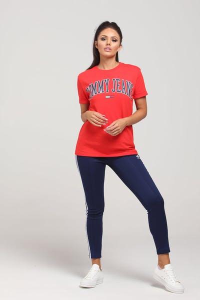 299dcaae Tommy Jeans Women's TJW Collegiate Tee Scarlet