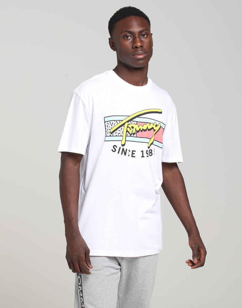 Tommy Jeans Tommy Script T-Shirt In Classic White
